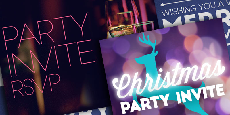 Christmas greetings and RSVP invites from MailGlo
